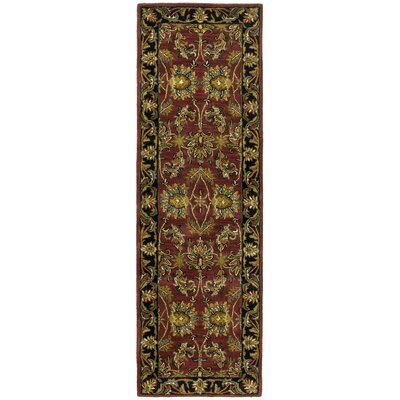 Traditions Agra Burgundy Rug Rug Size: Runner 26 x 12