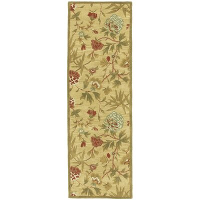 Traditions Gold Rug Rug Size: Runner 26 x 8