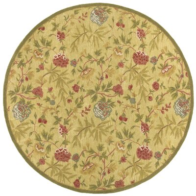 Traditions Gold Rug Rug Size: Round 6