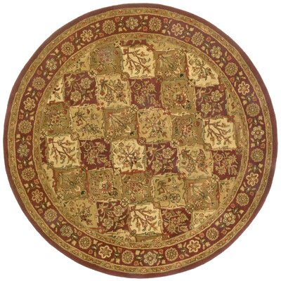 Traditions Baktarri Brick Red Rug Rug Size: Round 8