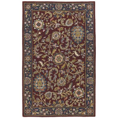 Traditions Kashan Red/Blue Rug Rug Size: 5 x 8