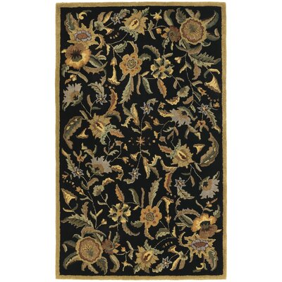 Traditions Paradise Black Rug Rug Size: 5 x 8