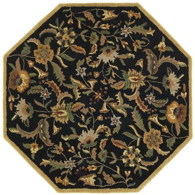 Traditions Paradise Black Rug Rug Size: Rectangle 8 x 11