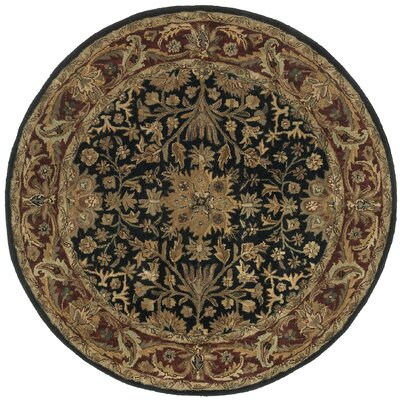 Traditions Regal Black Rug Rug Size: Round 8