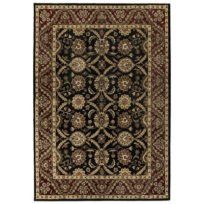 Traditions Morris Black Rug Rug Size: Rectangle 5 x 8