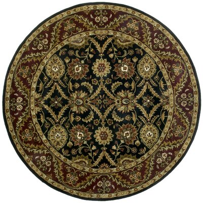 Traditions Morris Black Rug Rug Size: Round 8