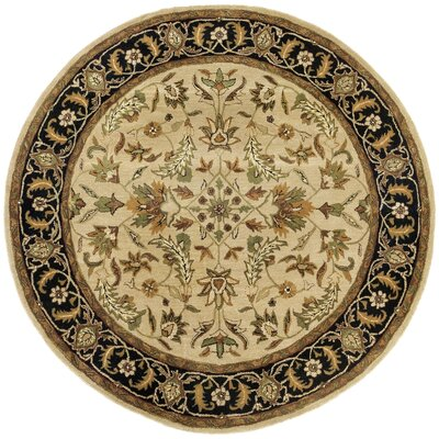 Traditions Patina Tan Rug Rug Size: Round 6