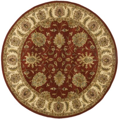 Traditions Agra Saffron Rug Rug Size: Round 8