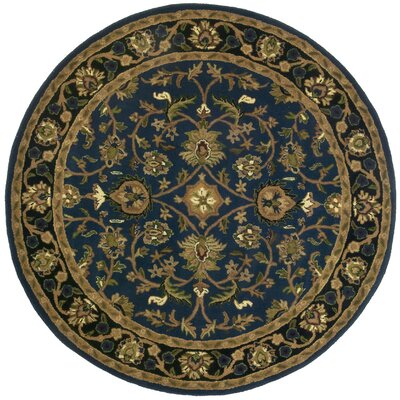 Traditions Mahal Blue Rug Rug Size: Round 6