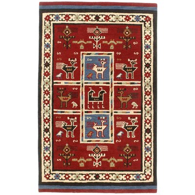 Traditions Tribal Burgundy Rug Rug Size: 4 x 6