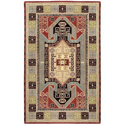 Traditions Sparta Navy/Red Rug Rug Size: 5 x 8