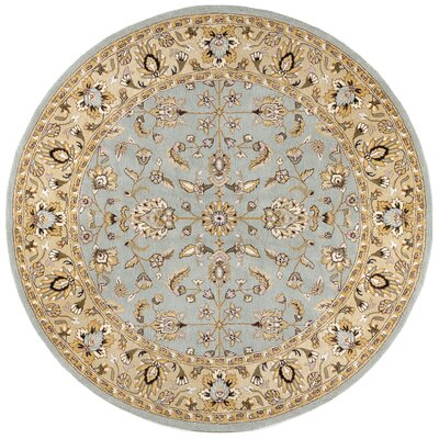Traditions Waterford Sea Foam Rug Rug Size: Round 6