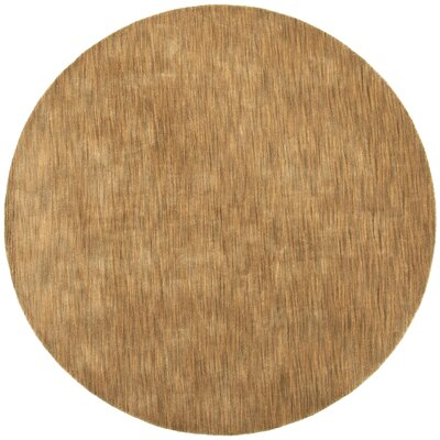 Fusion Light Brown Area Rug Rug Size: Round 8