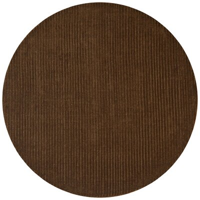 Pulse Brown Rug Rug Size: Round 8