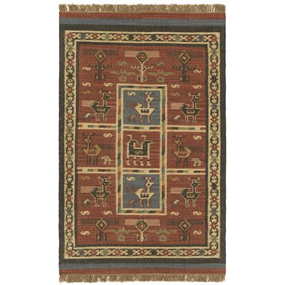 Hacienda Hand-Woven Red Area Rug Rug Size: 3 x 5