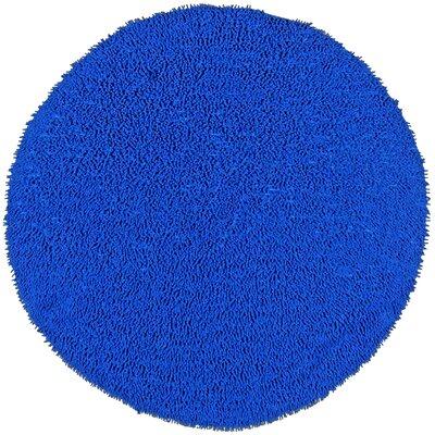 Baugh Neon Blue Kids Rug Rug Size: Round 5