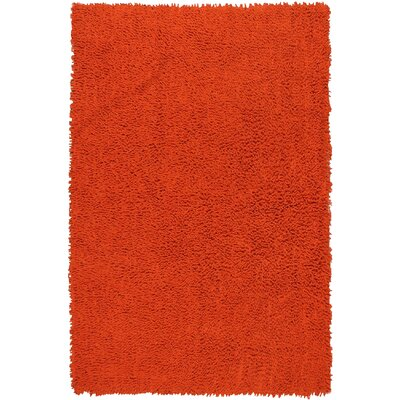 Shagadelic Hand-Loomed Orange Area Rug Rug Size: Rectangle 19 x 210