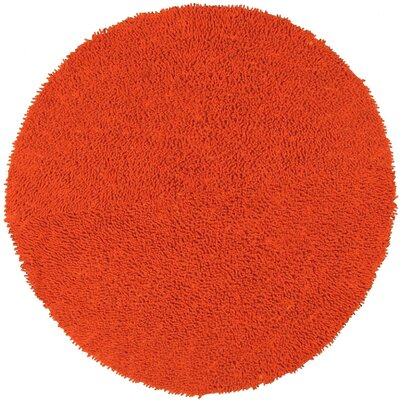 Baugh Orange Kids Area Rug Rug Size: Round 5