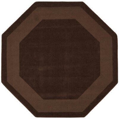Transitions Chocolate Border Rug Rug Size: Octagon 8