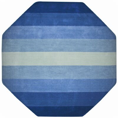 Degarmo Blue Stripes Area Rug Rug Size: Octagon 8