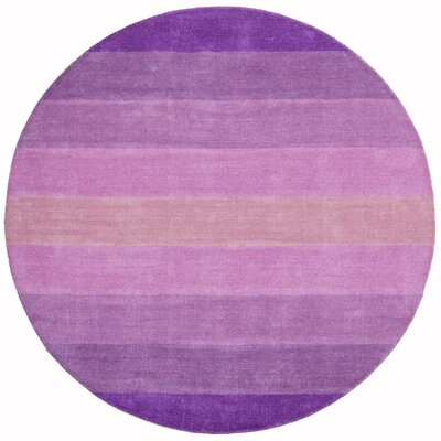 Aspect Purple Stripes Area Rug Rug Size: Round 8