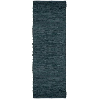 Sandford Leather Chindi Green Area Rug Rug Size: Runner 25 x 12