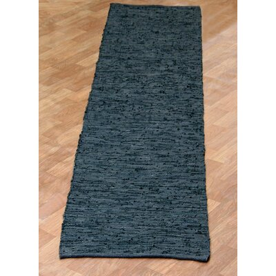Matador Hand-Loomed Black Area Rug Rug Size: Runner 26 x 14