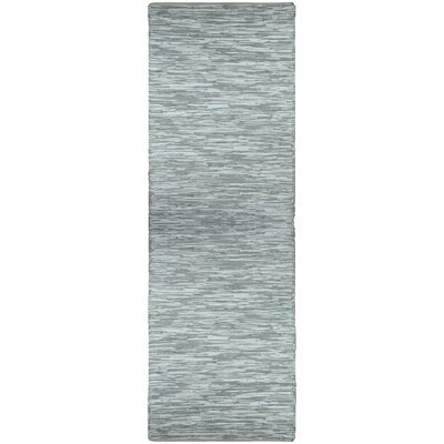 Matador Hand Woven Cotton Gray Area Rug Rug Size: Runner 25 x 12