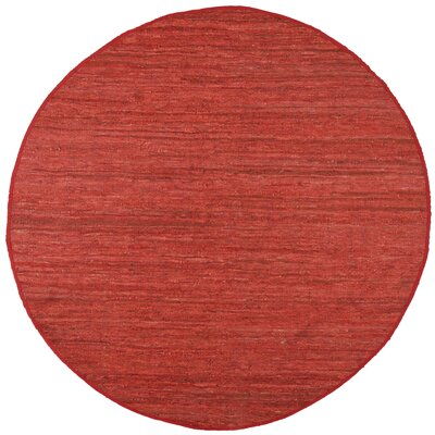 Sandford Leather Chindi Copper Area Rug Rug Size: Round 6