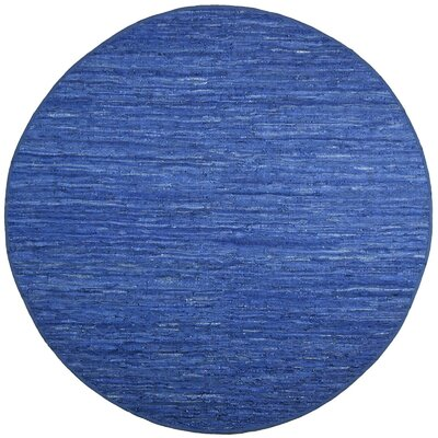 Sandford Chindi Hand Woven Cotton Blue Area Rug Rug Size: Round 6