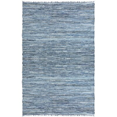 Matador Leather/Denim Dhurry Rug Rug Size: 26 x 42