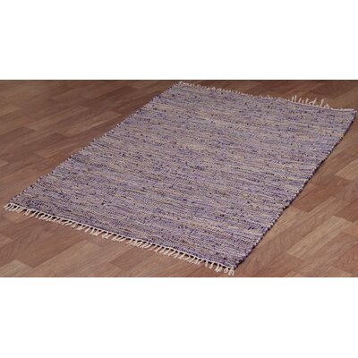 Matador Purple Leather/Hemp Rug Rug Size: 8 x 10