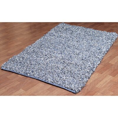 Pelle Leather Denim Area Rug Rug Size: 5 x 8