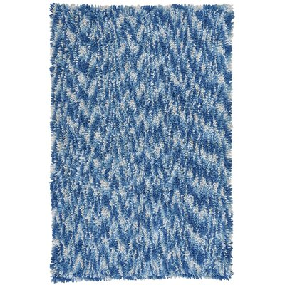 Shagadelic Blue Twist Swirl Rug Rug Size: Rectangle 4 x 6