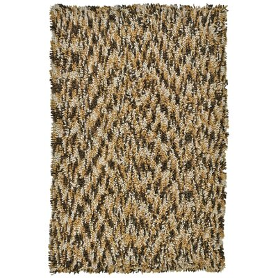 Shagadelic Brown Twist Swirl Rug Rug Size: Rectangle 3 x 4