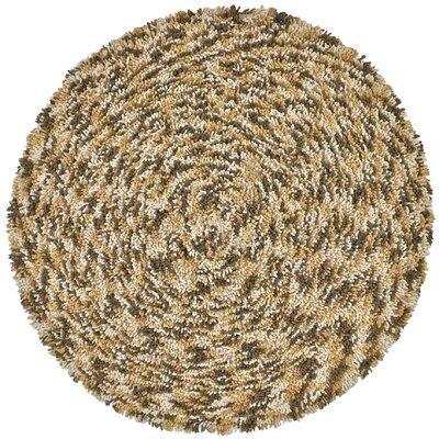 Shagadelic Brown Twist Swirl Rug Rug Size: Round 5