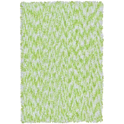 Shagadelic Green Twist Swirl Rug Rug Size: Rectangle 4 x 6