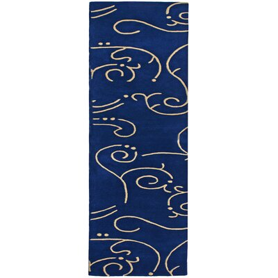 Structure Blue Archer Rug Rug Size: Runner 25 x 12
