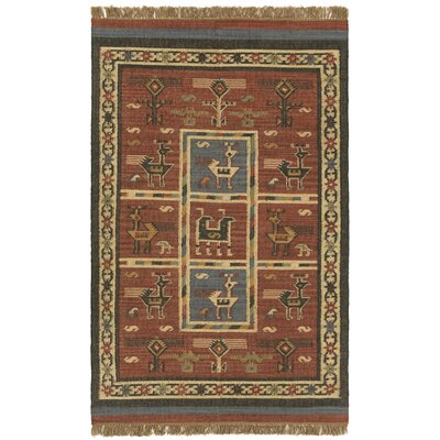 Hacienda Tribal Burgundy Ikat Area Rug Rug Size: 10 x 14