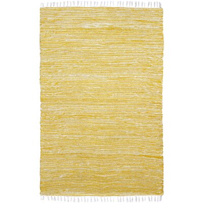 Complex Yellow Area Rug Rug Size: 4 x 6