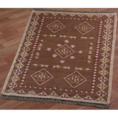 Hacienda Brown/Tan Southwestern Area Rug Rug Size: 4 x 6