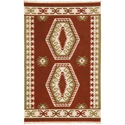 Hacienda Brown/Tan Southwestern Area Rug Rug Size: 9 x 12