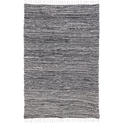 Complex Black Area Rug Rug Size: 4 x 6