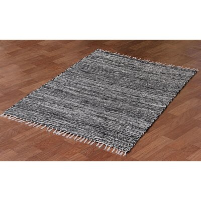 Complex Hand-Loomed Black Area Rug Rug Size: 9 x 12