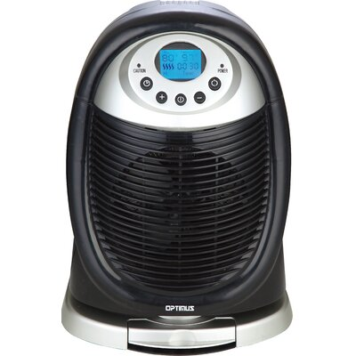 1,500 Watt Portable Electric Fan Compact Heater with LCD Display