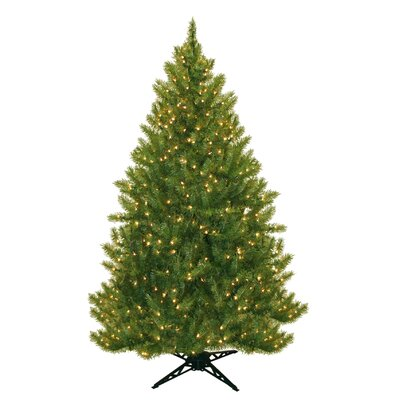 "77"" Evergreen Fir Artificial Christmas Tree with 450 Clear Lights"