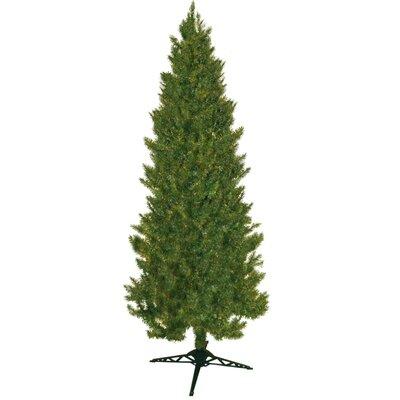 "84"" Green Slim Spruce Artificial Christmas Tree"