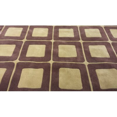 Casual Contemporary Brown / Tan Area Rug Rug Size: 36 x 56