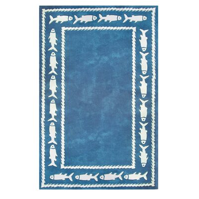 Beach Rug Fish Border Novelty Rug Rug Size: Round 8