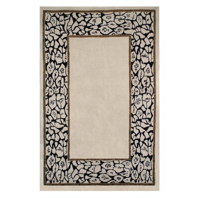 African Safari Animal Skin Border Area Rug Rug Size: 3 x 5